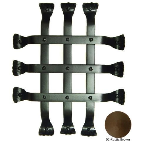 Agave Ironworks GR003-02 Fish Tail Flat Bar Grille