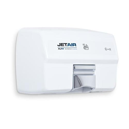 AJW U1525EA-120V Automatic 120 Volt Hand Dryer, White Powder Coat - Surface Mounted