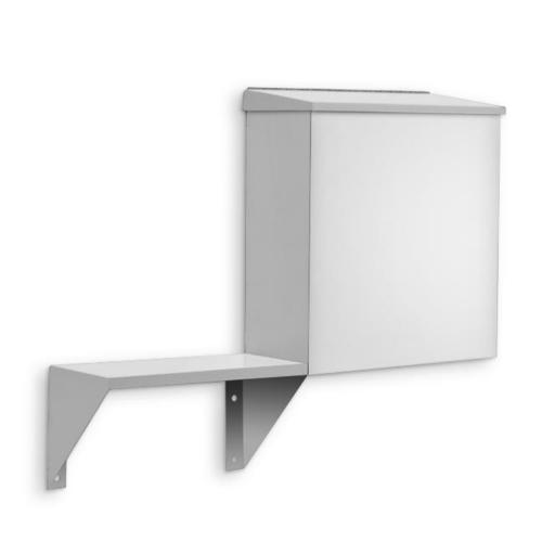 AJW U593 1.6 Gallon Sanitary Napkin Disposal w/ Mounted Shelf- Surface Mounted