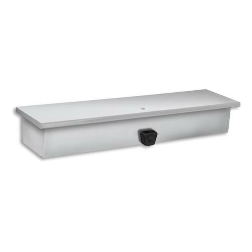 AJW U120 128 oz Single Valve Liquid Soap Dispenser w/ Shelf - Surface Mounted