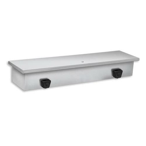 AJW U122 128 oz Dual Valve Liquid Soap Dispenser w/ Shelf - Surface Mounted Z