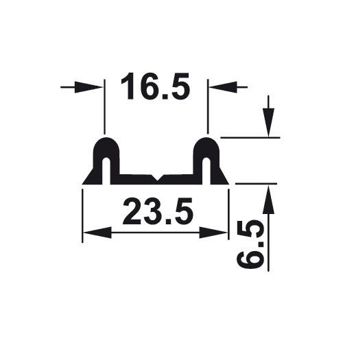 Hafele 415.08.972 Double Running Track