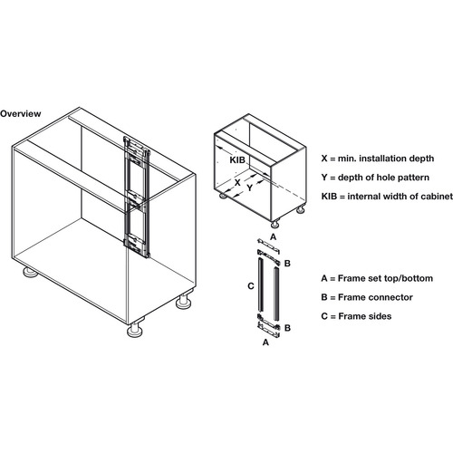 Hafele 553.00.161 Power Cord for Sensomatic Drawer Opener
