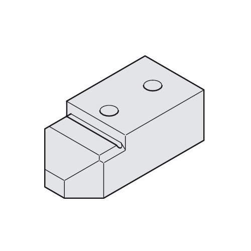 Hafele 940.80.035 Track fixing block for Hawa Junior 80 wall pocket solution