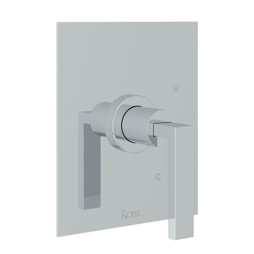 Rohl WA111L-APC Wave Wall Mount Pressure Balancing Trim with Single Metal Lever Handle for RCT-1 Rough Valve (Less Diverter), Polished Chrome