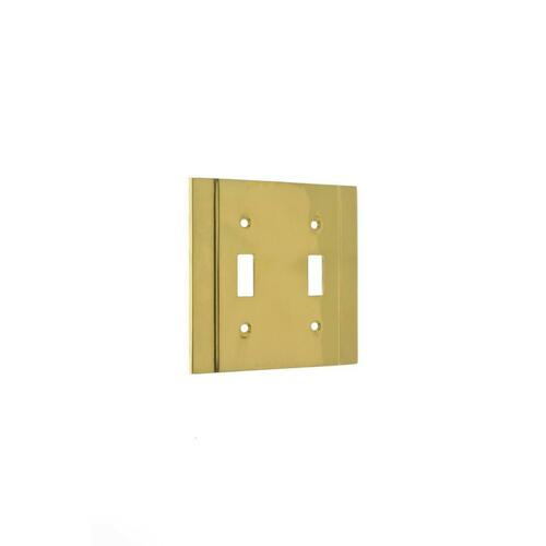 IDH 53001-10B Heavy Cast Double Switch Plate