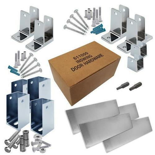 Jacknob 6201200 Hardware Kit-Corner Stall-In- 1-1/4