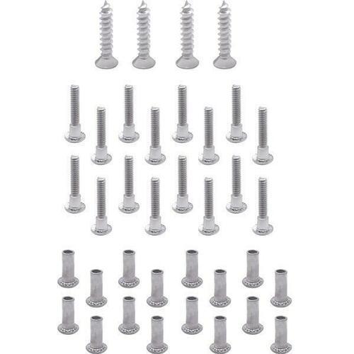 Jacknob 680 Screw Pack - Aluminium Hinge Set 8