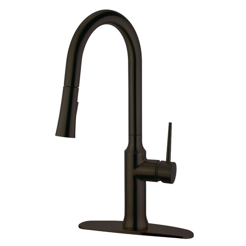 Kingston Brass LS2725NYL Single-Handle Pull-Down Kitchen Faucet, Oil Rubbed Bronze