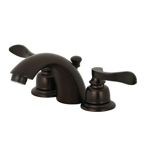 Kingston Brass KB955NFL Mini-Widespread Bathroom Faucet, Oil Rubbed Bronze