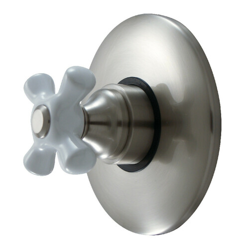Kingston Brass KB3008PX Volume Control With Cross Handle, Brushed Nickel