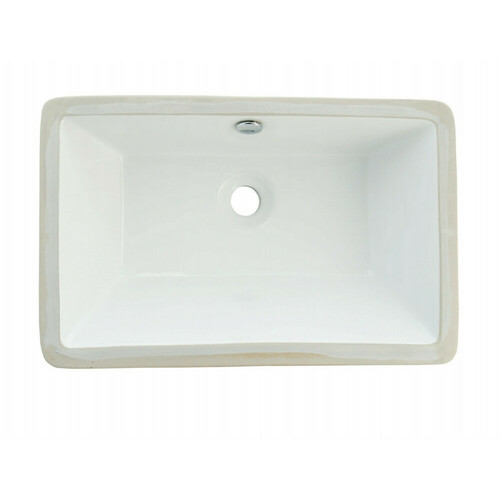 Kingston Brass LB21137 Castillo Undermount Bathroom Sink, White