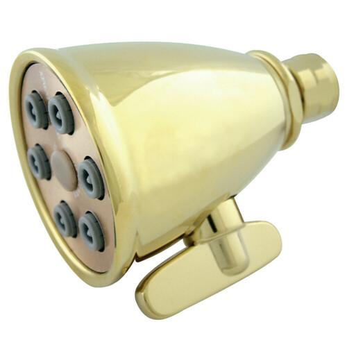 Kingston Brass K138A2 Victorian Adjustable Jet Spray Shower Head, Polished Brass