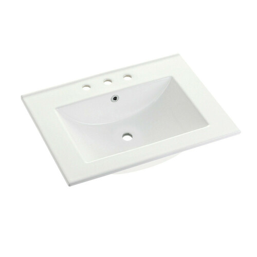 Kingston Brass LBT24187W38 Ultra Modern 24-Inch X 18-Inch Ceramic Vanity Top (8