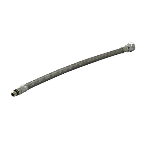 Kingston Brass KSHO8421 1/2-Inch OD X 12-Inch Stainless Steel Supply Line, Stainless Steel
