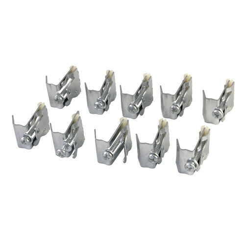 Kingston Brass KDSHDWR10 Mounting Clips For Stainless Steel Sink, Silver