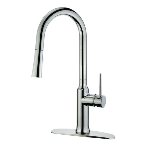 Kingston Brass LS2721NYL Single-Handle Pull-Down Kitchen Faucet, Polished Chrome