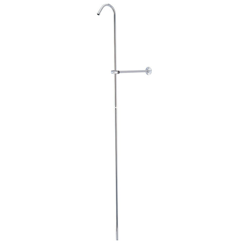 Kingston Brass CCR601 Vintage Shower Riser And Wall Support, Polished Chrome
