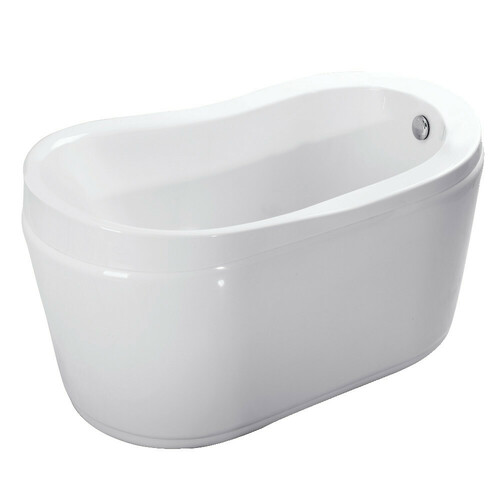 Kingston Brass VTRS523030 52-Inch Acrylic Freestanding Tub with Drain, White
