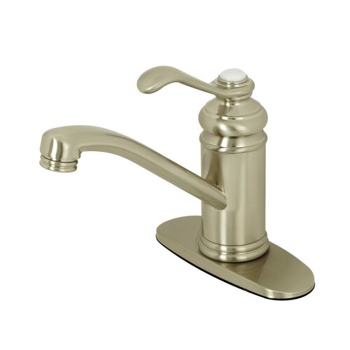 Kingston Brass KS3408TPL Templeton Single-Handle Bathroom Faucet with Push Pop-Up, Brushed Nickel