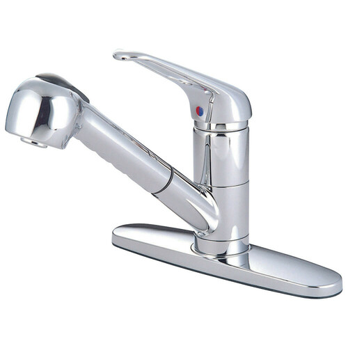 Kingston Brass GKS881C Water Saving Legacy Pull-out Kitchen Faucet, Polished Chrome