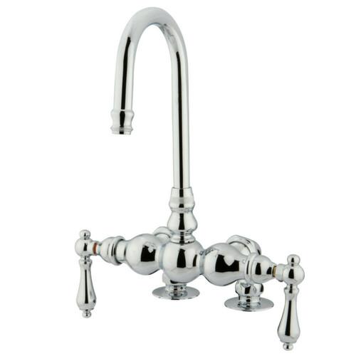 Kingston Brass CC92T1 Vintage 3-3/8-Inch Deck Mount Tub Faucet, Polished Chrome