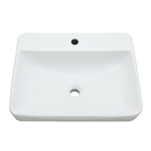 Kingston Brass EV2318 Century 23-Inch Rectangular Ceramic Drop-In Bathroom Sink, White