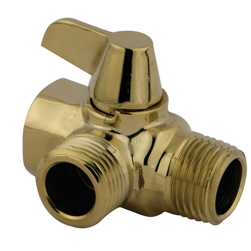 Kingston Brass K160A2 Trimscape Wall Mount Shower Arm Diverter, Polished Brass