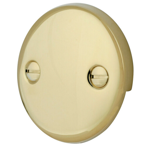 Kingston Brass DTT102 Bath Tub Overflow Plate, Polished Brass