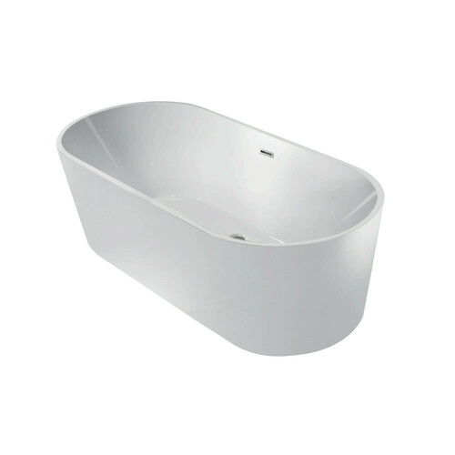 Kingston Brass VTDE603023 60-Inch Acrylic Double Ended Freestanding Tub with Drain, White