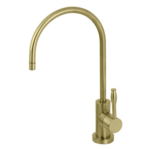 Kingston Brass KS8197NKL Nustudio Single-Handle Cold Water Filtration Faucet, Brushed Brass