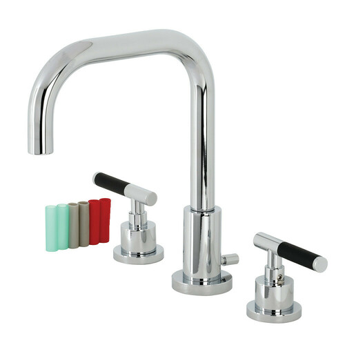 Kingston Brass FSC8931CKL Kaiser Widespread Bathroom Faucet with Brass Pop-Up, Polished Chrome