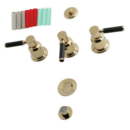 Kingston Brass KB6322DKL 3-Handle Bidet Faucet, Polished Brass