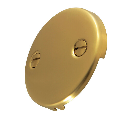 Kingston Brass DTT107 Bathtub Overflow Plate, Brushed Brass