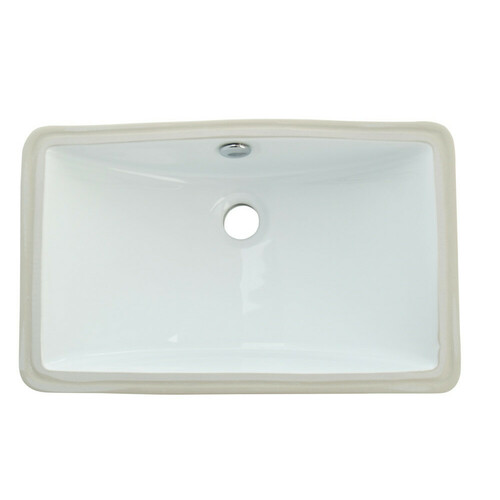 Kingston Brass LB18127 Courtyard Undermount Bathroom Sink, White