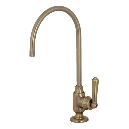 Kingston Brass KS5193NML Magellan Single-Handle Water Filtration Faucet, Antique Brass