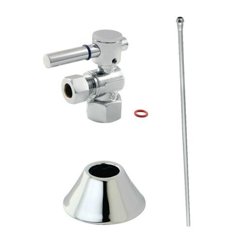 Kingston Brass CC43101DLTKB30 Modern Plumbing Toilet Trim Kit, Polished Chrome