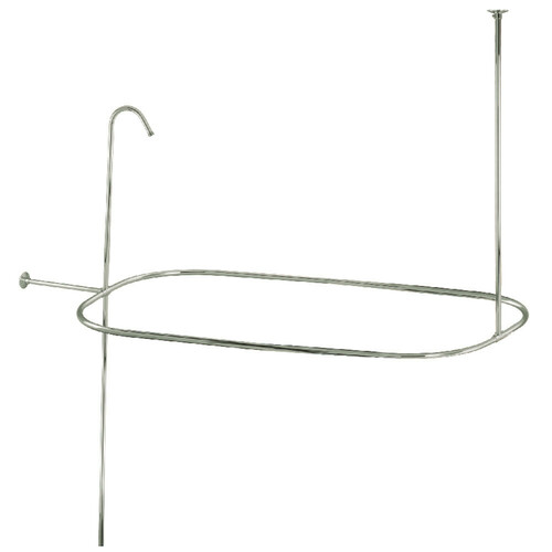 Kingston Brass ABT1040-6 Oval Shower Riser with Enclosure, Polished Nickel