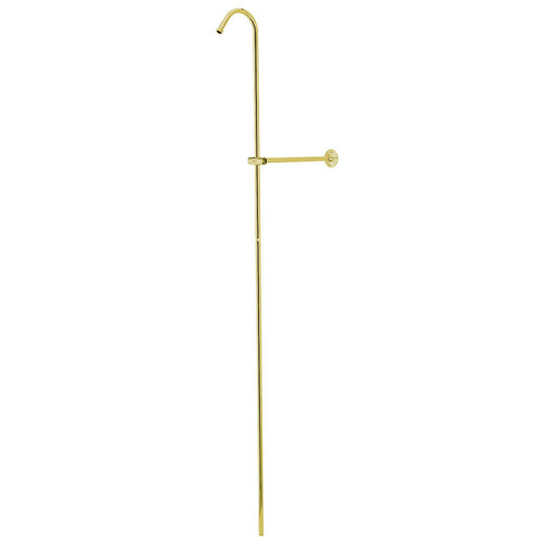 Kingston Brass CCR602 Vintage Shower Riser Only With Wall Support, Polished Brass