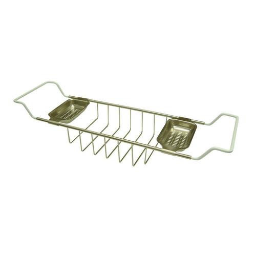 Kingston Brass CC2158 Clawfoot Bath Tub Shelf, Brushed Nickel