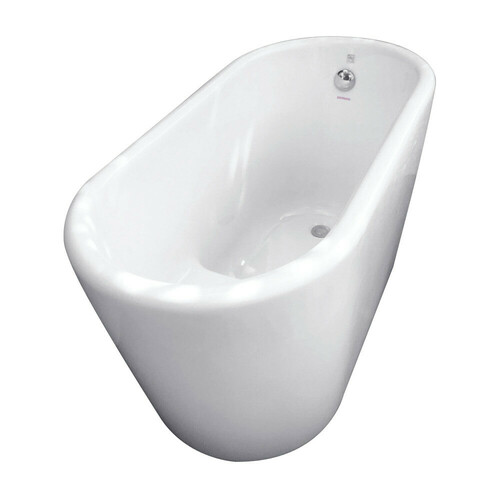 Kingston Brass VTDE512628 51-Inch Acrylic Freestanding Tub with Seat, White