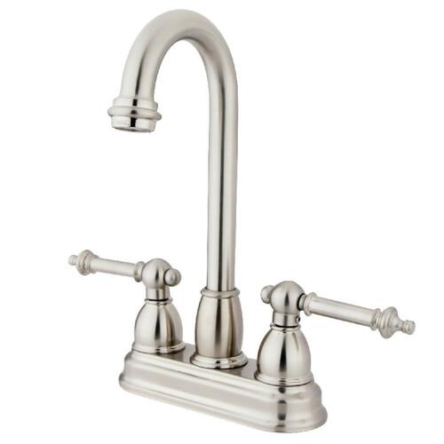 Kingston Brass KB3498TL Bar Faucet, Brushed Nickel