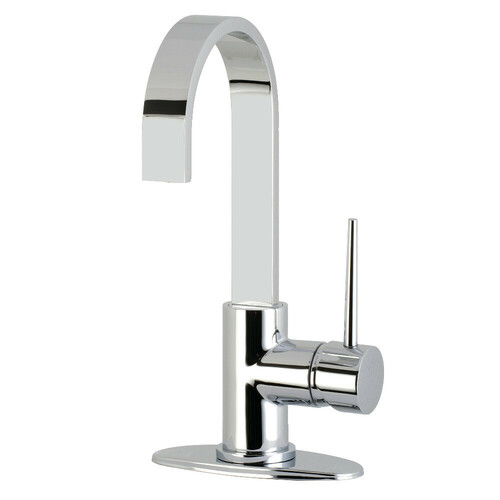 Kingston Brass LS8611NYL New York One-Handle 1-Hole Deck Mounted Bar Faucet, Polished Chrome