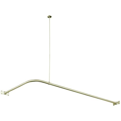 Kingston Brass CC3148 Corner Shower Rod, Brushed Nickel