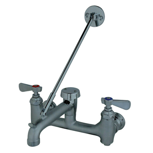 Kingston Brass FSS100RC Two-Handle Commercial Service Janitorial Sink Faucet, Rough/Chrome