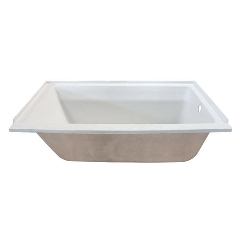 Kingston Brass XVTPN603020R 60-Inch Acrylic Rectangular Drop-In Tub with Right Hand Drain Hole, White