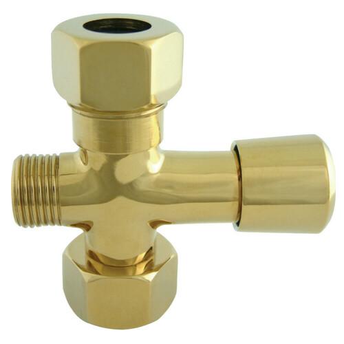 Kingston Brass ABT1060-2 Vintage Shower Diverter, Polished Brass