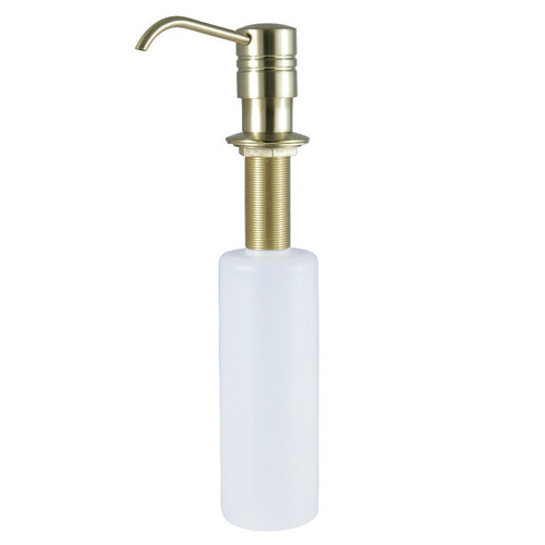 Kingston Brass SD2617 Straight Nozzle Metal Soap Dispenser, Brushed Brass