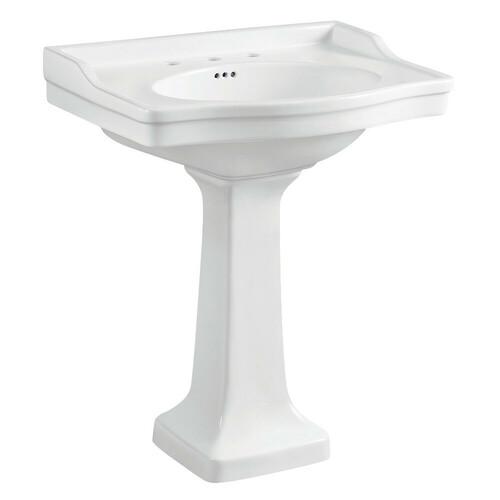 Kingston Brass VPB3308 Porcelain Pedestal Sink, White