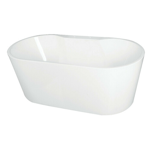 Kingston Brass VT7DE593023 59-Inch Acrylic Freestanding Tub with Deck for Faucet Installation, White
